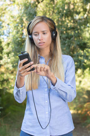 youth woman with a headset