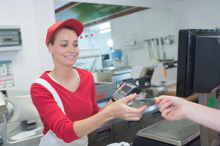 paying: payment machine on during using credit card