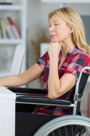 confident disabled beautiful woman