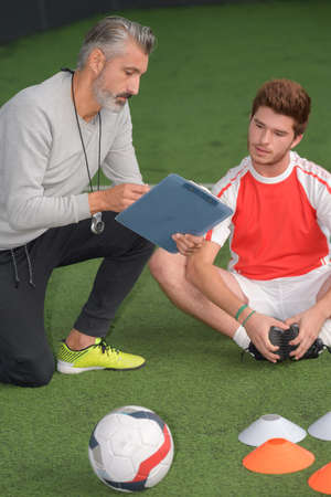 coach at a football training