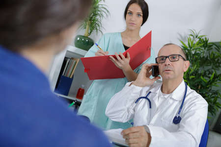 interview with the patient Stock Photo