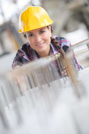 female engineer at power plant