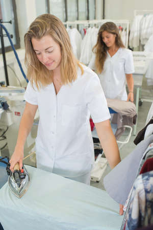 workers laundry ironed clothes iron dry