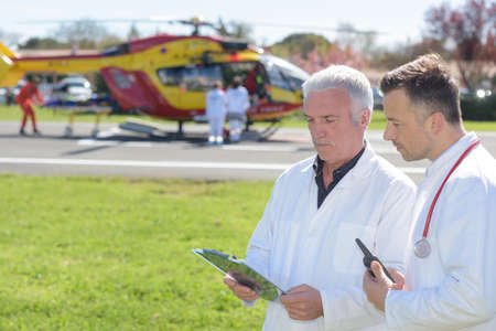 helicopte prepares for training emergency aromedical evacuation course