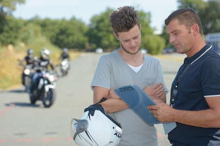 motorbike test Stock Photo