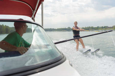girl going water skiing