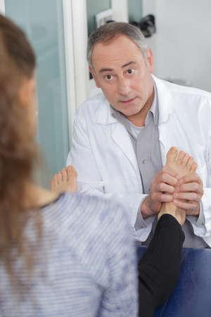 giving a foot massage