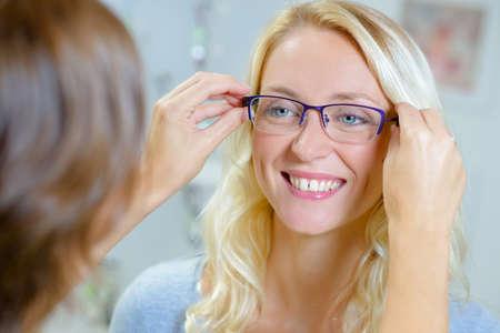 Prawo okularów dla klienta Zdjęcie Seryjne
