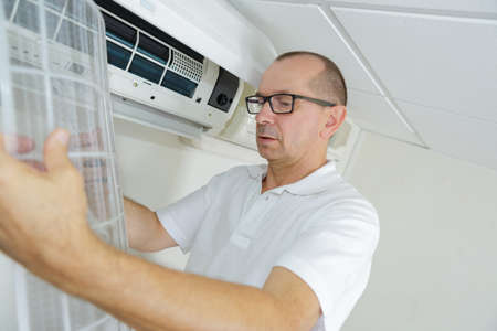 appliance: taking an appliance apart Stock Photo
