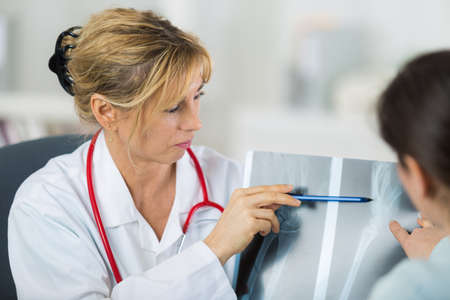 a visit to the orthopedist Stock Photo