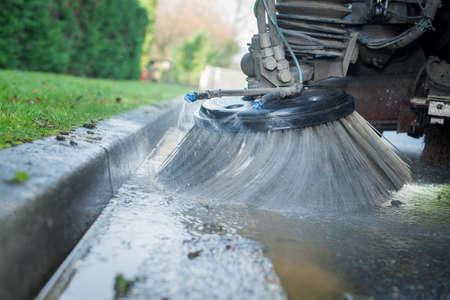 street cleaning brush Stockfoto