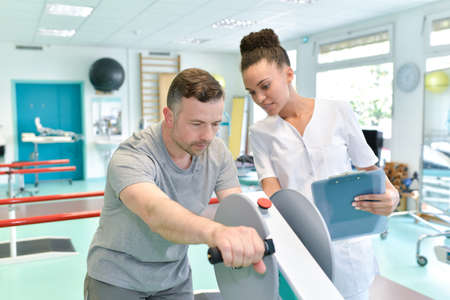 modern rehabilitation physiotherapy Stock Photo - 81346009