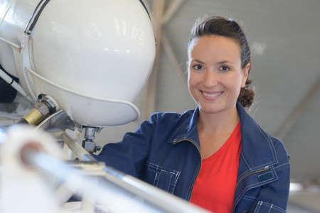 boat workshop pretty woman employee