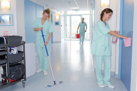 cleaning in hospital
