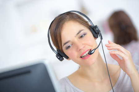girl working in call center