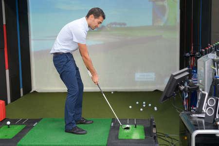 the indoor golf