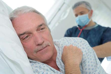 the patients back