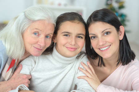 three women of the family Stock Photo