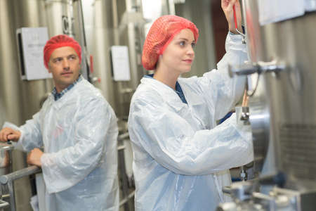 factory workers on the job
