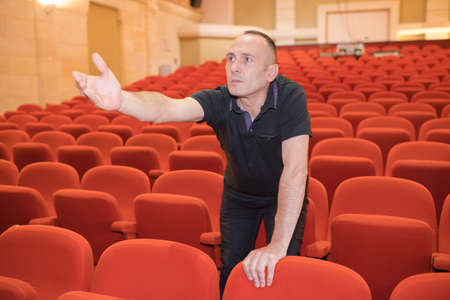 man directing a spectacle