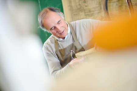 craftsman in workshop