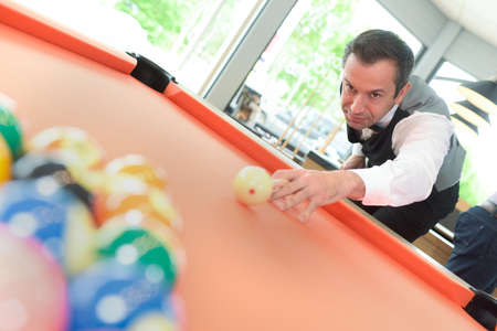 billiards player Banque d'images