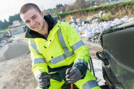 municipal dustman worker