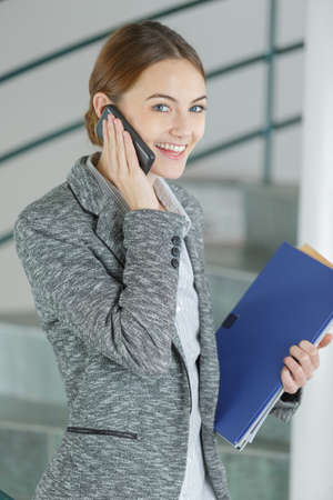 female professional talking on the cellular phone