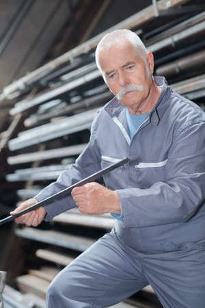 industrial worker in manufacturing plant