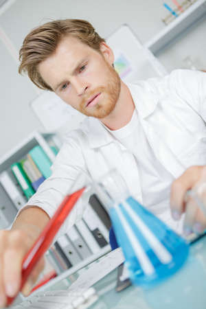 A male lab assistant Stock Photo