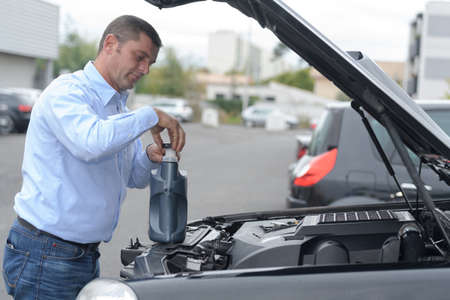 the car lubricant Stock Photo