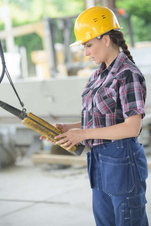 female machine operator