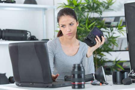 photo editor doing her job
