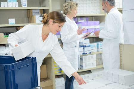 sorting out pharmaceuticals Foto de archivo