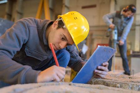 man working on a construction site Reklamní fotografie
