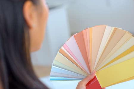 closeup of a color swatch