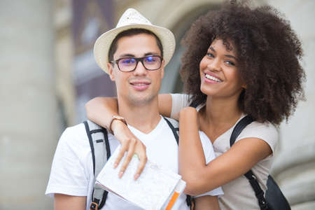 young couple in love on holidays Stock Photo
