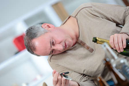 inebriated: Drunk man holding car keys