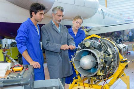 young aircraft assemblers