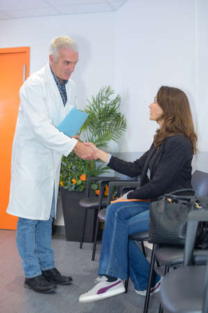 doctor welcomes patient