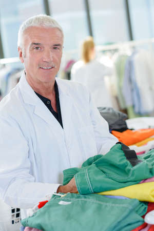 Portrait of man in professional laundry