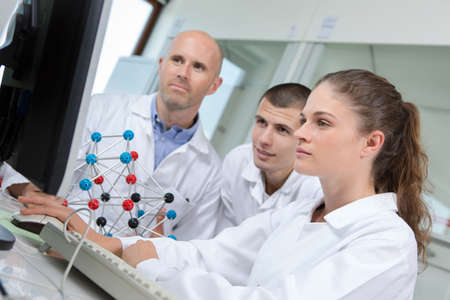 Young chemical engineers Stock Photo