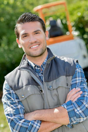 A confident and poised landscaper