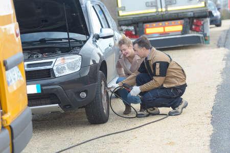 car tow assistance Banco de Imagens