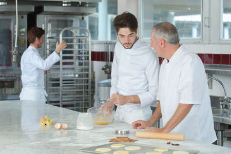 직장에서 생과자 요리사