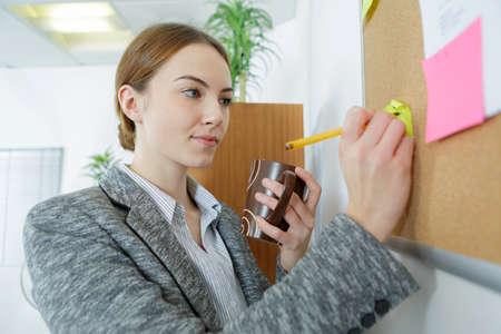 female secretary organising planing