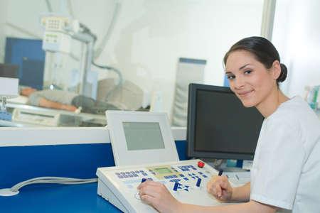 during radiation examination
