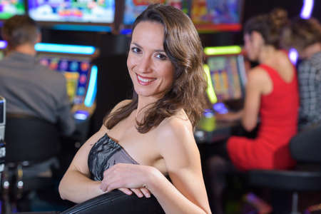 happy wpman playing slot machines