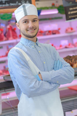 Portrait of young butcher