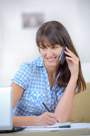 casual women using smart phone and laptop